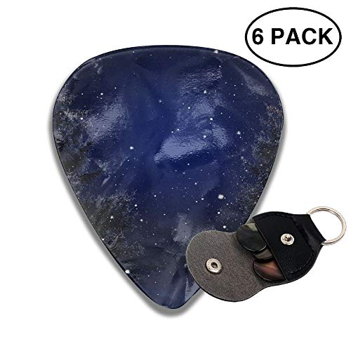 Starry Snowy Winter Night Christmas Trees Small Medium Large 0.46 0.71 0.96mm Mini Flex Assortment Celluloid Top Classic 351 Rock Electric Acoustic Guitar Pick Accessories Variety Pack ()
