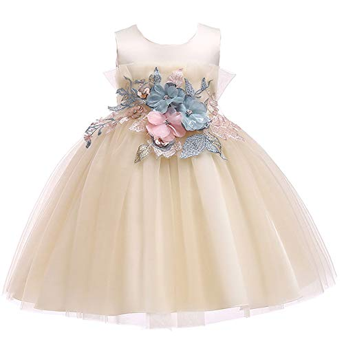LZH Girls Bridesmaid Dress Wedding Pageant Party Princess Gown Prom Dresses - Prom Pageant Wedding Gown