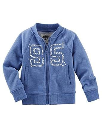 Amazon.com: OshKosh B'gosh Baby Girls' French Terry Bomber
