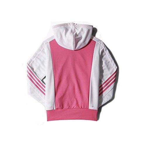 adidas New Young Knit - Chándal para mujer Negro / Rosa / Blanco