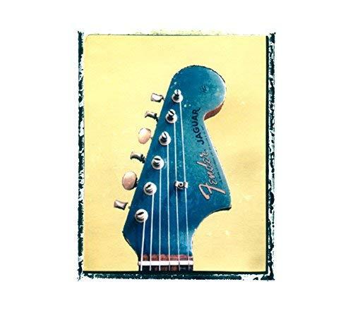 - Vintage Fender Jaguar blue Guitar art music print
