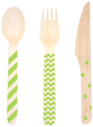 Dress My Cupcake Stamped Wooden Cutlery