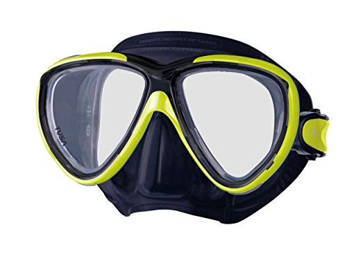 TUSA M-211 Freedom One Scuba Diving Mask, Black/Flash ()