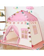 خيمة لعب للاطفال للاماكن الداخلية والخارجية، بيت اللعب بتصميم قلعة الاميرة، لعبة خيم هدية للاطفال، لون زهري