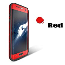 Redpepper-Waterproof Case for Samsung Galaxy S7 Edge SnowProof ShockProof DirtProof Case Cover Étui étanche Coque Housse (Red)
