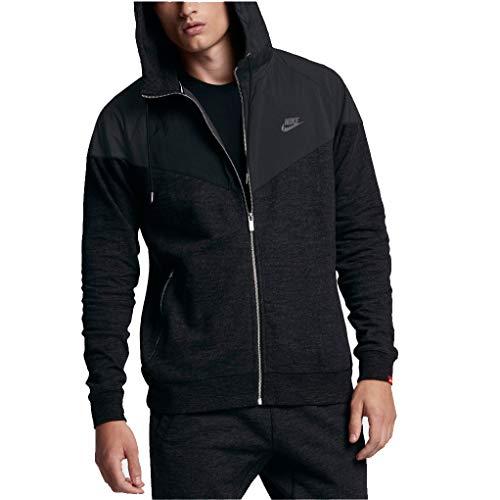 Nike Sportswear Men's Fleece GX Windrunner Full Zip Hoodie - Black -