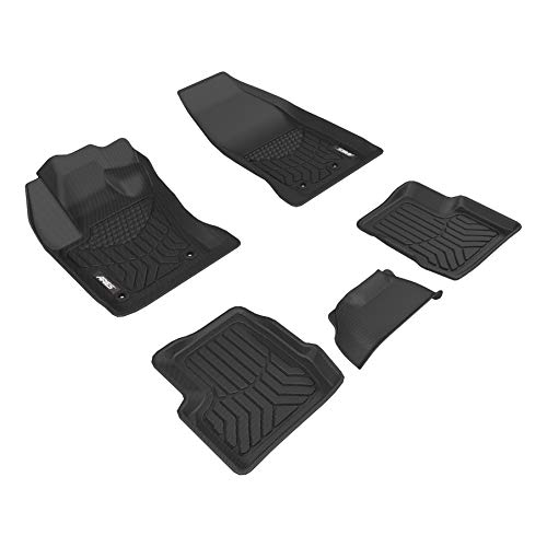 ARIES 2802209 StyleGuard XD Black Custom Truck Floor Liners for Fiat 500X, 1st and 2nd Row