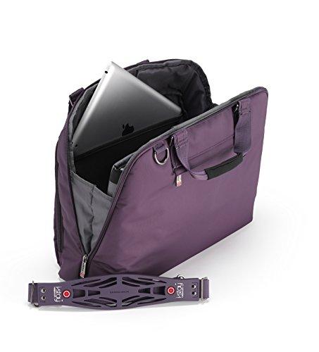 I-Stay Damen Tasche für Laptop 39,6 cm (15.6 Zoll) schwarz | is0106 | Frauen Notebooktasche von I Stay lila