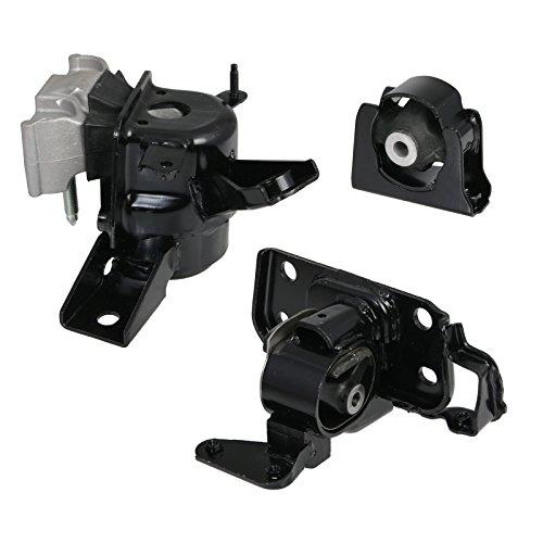 3pc Motor Mounts Set Kit Compatible with 06-08 Toyota Rav4 Rav 4-2.4L 4-Cylinder 4WD AWD Auto Automatic Transmission Engine -
