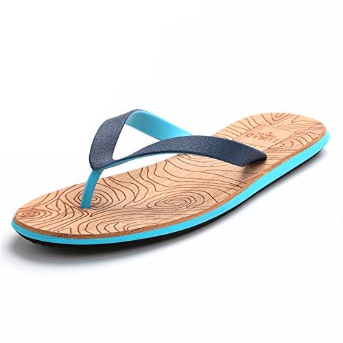 Beach Summerwhisper Flats Contrast Color Flip Sandals Blue Anti Skid Flops Thong Mens ZS4RxqSWH