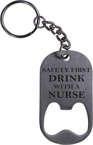 CustomGiftsNow - Llavero con abrebotellas para enfermera, Rn ...