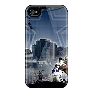Shock Absorbent Cell-phone Hard Cover For Iphone 4/4s (pBR24396MyPd) Support Personal Customs High Resolution Dallas Cowboys Image