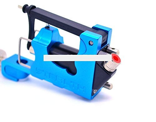 Noiseless Tattoo Gun Rotary Tattoo Machine Complete with three bearings only 100g Blue