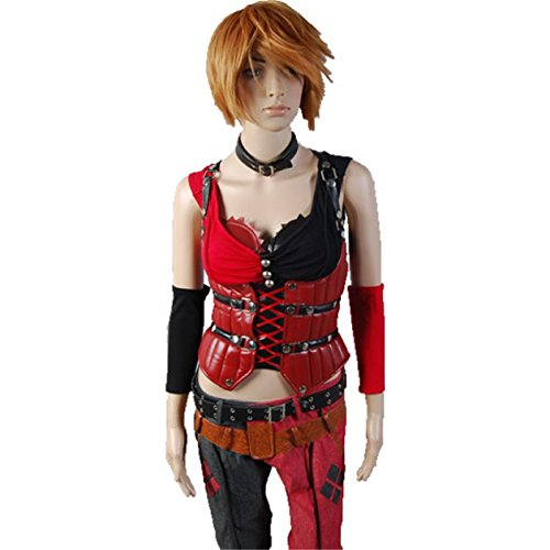 Custom Made Adult Clown Costumes (TISEA Halloween Clown Sexy Lady Leather Set Outfits Game Cosplay Costume (Custom Made))