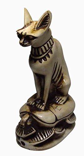 Egyptian Handmade Bastet Bast Scarab Beetle Ancient Souvenir Goddess Cat Pharaoh Figurine 3D Statue Ancient Mythology Miniature Decoration Decorative Statue 5