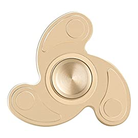 Fidget Spinner, Vafru Tri Fidget Hand Spinner Triangle Torqbar Brass Puzzle Finger Toy EDC Focus Fidget Spinner ADHD Austim Educational Toy