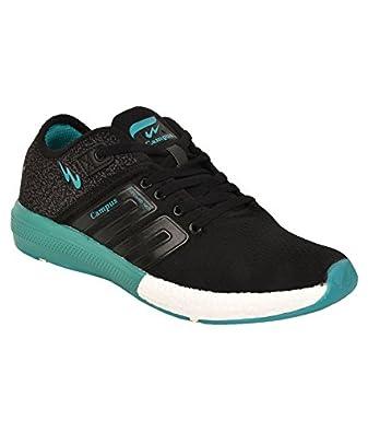 Black \u0026 Teal Blue Running Shoes