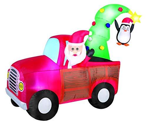 Occasions - Figura Hinchable de Papá Noel (7, 5): Amazon.es: Jardín