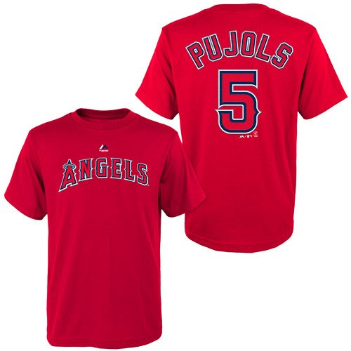 Majestic Albert Pujols Los Angeles Angels of Anaheim MLB Youth Player T-Shirt (Youth Large 14/16)