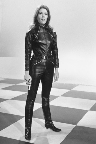 Diana Rigg The Avengers In Leather Poster