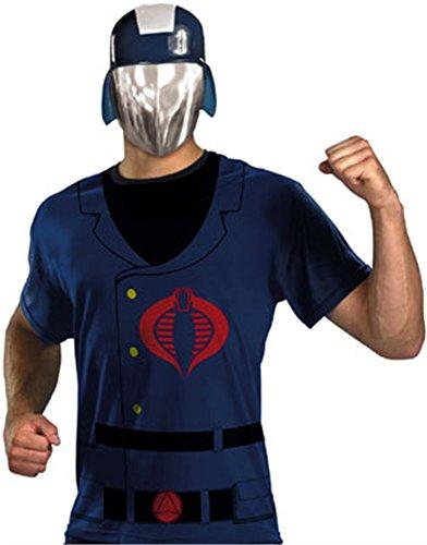 GI Joe Cobra Commander T-Shirt and Mask Halloween Costume - Adult Standard One Size (Gi Joe Cobra Costumes)