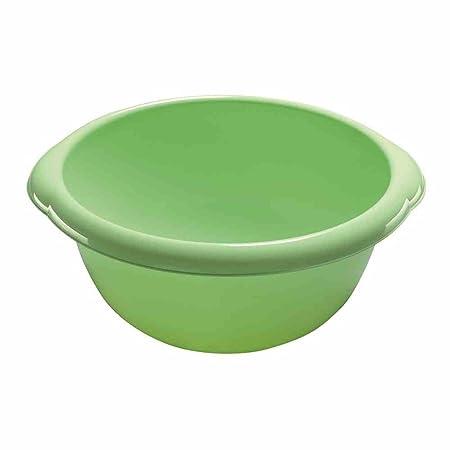 6L Contenitore di Stoccaggio Plastica Trasparente // Verde 32  x  32  x  14 cm Rotho 1704506644
