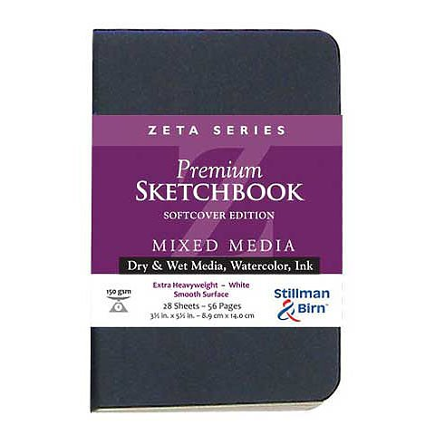Stillman & Birn Zeta Series Softcover Sketchbook, 3.5