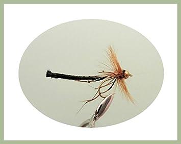 Goldhead Black Standard Fly Fishing Flies 8 Pack Daddy long legs trout Fly