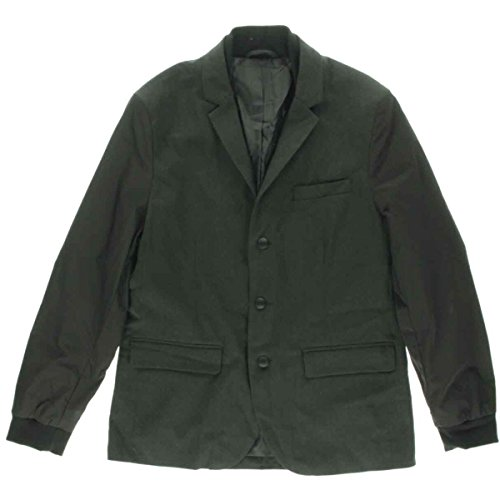 Kenneth Cole Reaction Mens Notch Collar Long Sleeves Basic Jacket Black S (Kenneth Cape Cole)