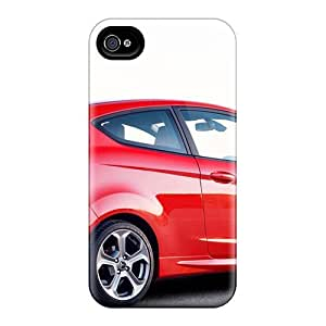 IaerWZY3728SILXC Case Cover Red And White Ford Fiesta Iphone 4/4s Protective Case