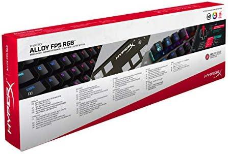HyperX Alloy FPS RGB- Teclado Mecánico Gaming, Teclas Versión Español Latam, con interruptores Kaihl Silver Speed (Silencioso y lineal) y retroiluminación RGB - (HX-KB1SS2-LA) 7