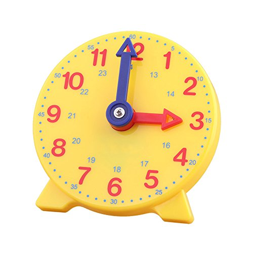 (DHCHAPU Student Learning Clock Time Teacher Gear Clock 4 Inch 12/24 Hour)