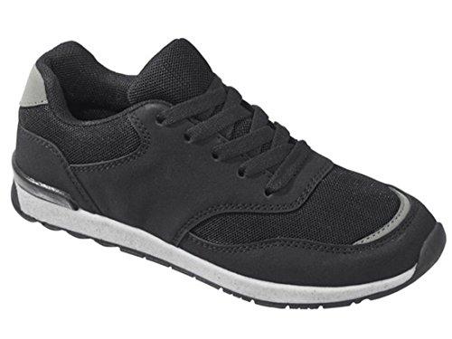 Jungen Sneaker Sportschuhe Turnschuhe Laufschuhe Schwarz 35