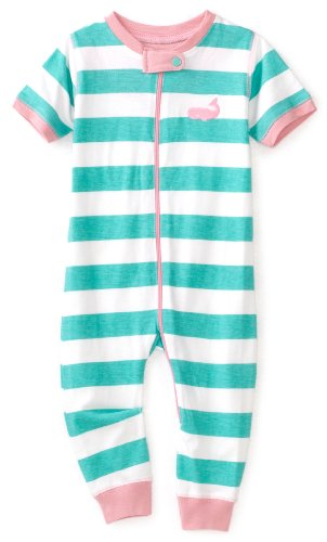 Hatley   Baby Girls' Whales Stripe Day Romper