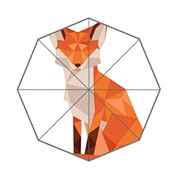 Art Deco diseño bajo Poly Animales Fox plegable paraguas