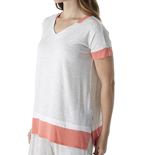 DKNY Women's Short Sleeve Lounge Tee Grey Heather Pajama Top ()
