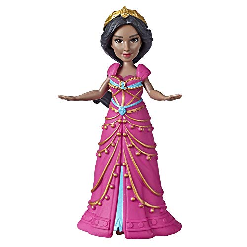 Princess Collectible Doll - Disney Collectible Princess Jasmine Small Doll in Pink Dress Inspired by Disney's Aladdin Live-Action Movie, Toy for Kids Ages 3 & Up, 3.5