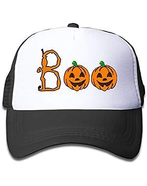 Halloween Boo On Boys and Girls Trucker Hat, Youth Toddler Mesh Hats Baseball Cap