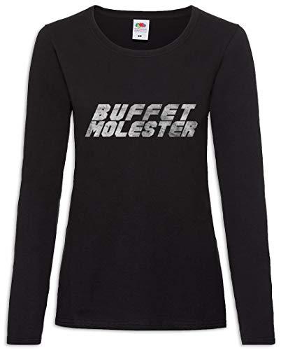 – De Molester 2xl Xs Larga Buffet Mujer T shirt Women Manga Tamaños qgTZv