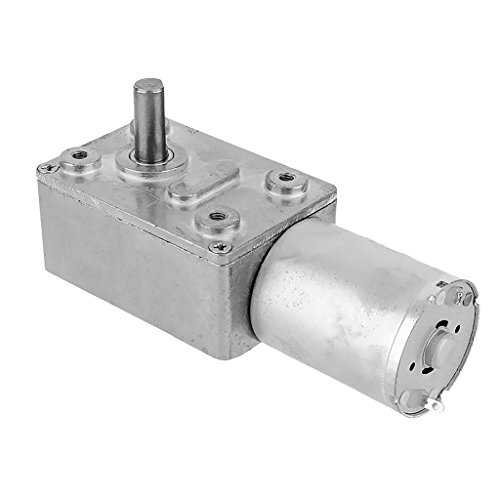 MonkeyJack Reversible High Torque Turbo Worm Geared Motor DC 12V Reduction Motor 2RPM - 62RPM - (Worm Drive Motors)