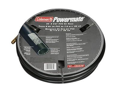 """Coleman Powermate 012-0059CT 25' X 3/8"""" Black 200 PSI PVC Air Hose"""