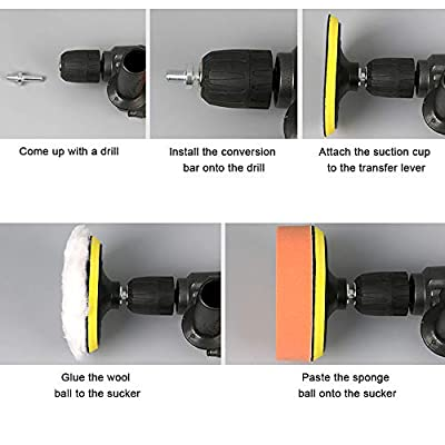 Sorrento Crafts Car Foam Drill Polishing Pad Kit 22 PCS, 3 Inch(80mm) Buffing Pads Sponge Pads Kit for Car Sanding, Polishing, Waxing, Sealing Glaze (Style 1): Automotive