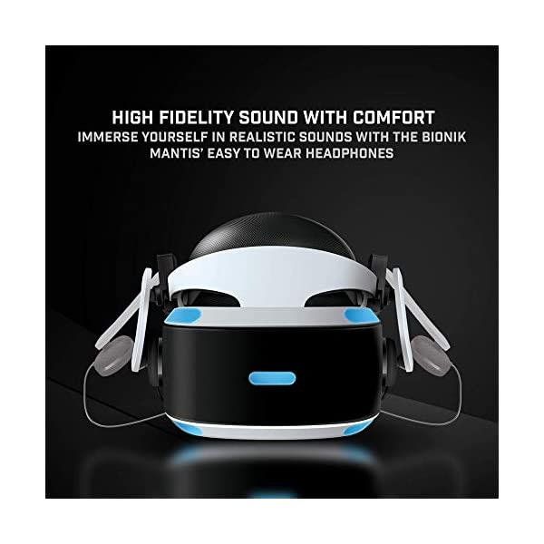 Bionik Mantis Attachable VR Headphones: Compatible with PlayStation VR, Adjustable Design, Connects Directly to PSVR, Hi-Fi Sound, Sleek Design, Easy Installation 3