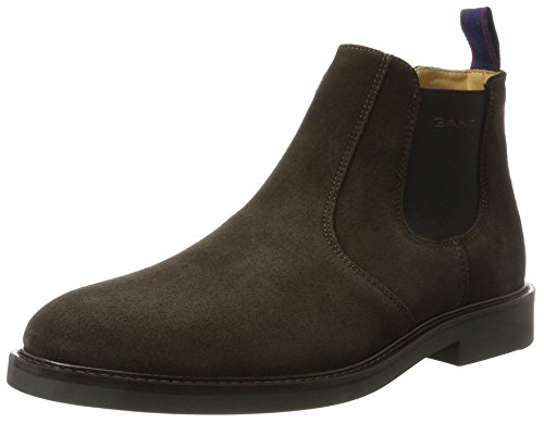 Spencer Brown Dark Marrón Botines Hombre Gant Chelsea ZpxaqHHA