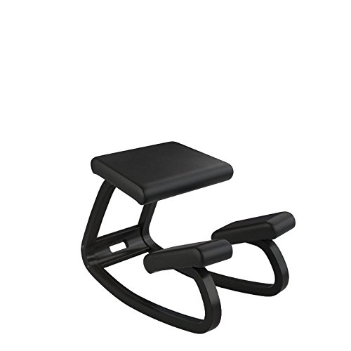 Varier Variable Balans Original Kneeling Chair Designed by Peter Opsvik (Black Step Fabric with Natural Ash Base)