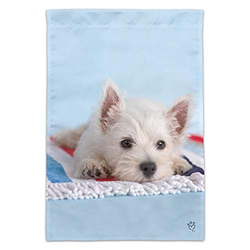 (Graphics and More West Highland Terrier Westie Puppy Dog Beach Towel Garden Yard Flag (Pole Not Included))