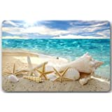 Beautiful Beach Seascape Door Mats Cover Non-Slip Machine Washable Outdoor Indoor Bathroom Kitchen Decor Rug Mat Welcome Doormat