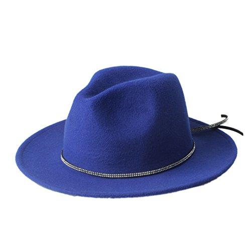 Best Choise Cappello Invernale in Feltro Sombrero da Donna Cappello Fedora  Panama da Uomo Cappellino Ampio da Baseball per Signore Signori per Multi  ... 0b549f97d900