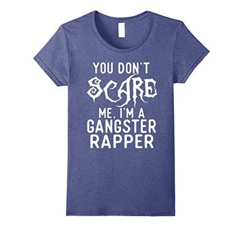 Womens Funny Gangster Rapper Shirts Halloween Costume Joke Gag Gift Medium Heather Blue