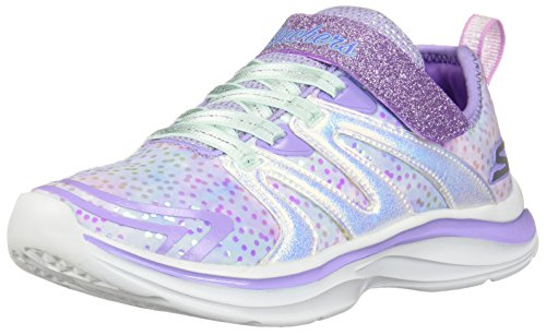 Skechers Kids Girls' Double Dreams-Unicorn Wishes Sneaker, Lavender/Multi, 5 Medium US Big Kid (Skechers Memory Foam Shoes Girls)